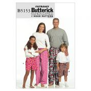 Butterick Adult Unisex Easy Sewing Pattern 5153 Pyjama Bottoms