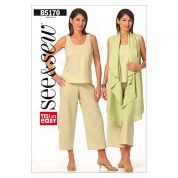 Butterick See & Sew Ladies Easy Sewing Pattern 5170 Tops & Trouser Pants