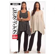 Butterick See & Sew Ladies Easy Sewing Pattern 5203 Tops & Trouser Pants