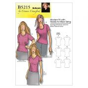 Butterick Ladies Easy Sewing Pattern 5215 Classic T-Shirt Tops