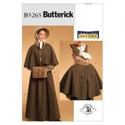 Butterick Ladies Craft Storage Pattern 5265 Historical Costume & Headwear