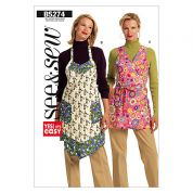 Butterick See & Sew Ladies Easy Sewing Pattern 5274 Aprons