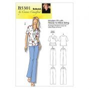 Butterick Ladies Easy Sewing Pattern 5301 Nurses Uniform
