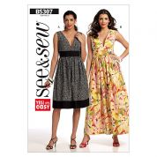 Butterick See & Sew Ladies Easy Sewing Pattern 5307 Summer Dresses