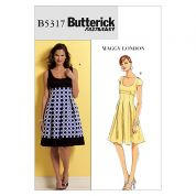 Butterick Ladies Easy Sewing Pattern 5317 Empire Line Flared Dresses