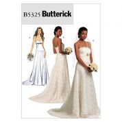 Butterick Ladies Sewing Pattern 5325 Bridal Wedding Dress with Train