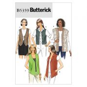 Butterick Ladies Easy Sewing Pattern 5359 Waistcoats & Tops