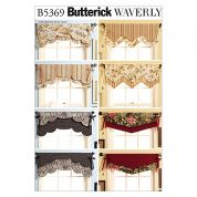 Butterick Homeware Easy Sewing Pattern 5369 Fast & Easy Reversible Valances