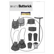 Butterick Ladies & Mens Sewing Pattern 5371 Historical Wrist Bracers, Corset, Belt & Pouches