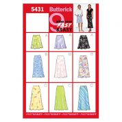Butterick Ladies Easy Sewing Pattern 5431 Simple Skirts