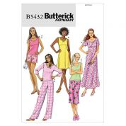 Butterick Ladies Easy Sewing Pattern 5432 Pyjamas & Night Dresses