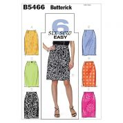 Butterick Ladies Easy Sewing Pattern 5466 Pencil Skirts & Belt