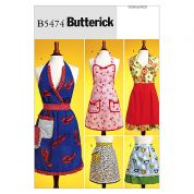 Butterick Ladies Easy Sewing Pattern 5474 Aprons with Fun Details