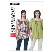 Butterick See & Sew Ladies Easy Sewing Pattern 5480 Summer Tops