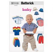 Butterick Baby & Toddlers Easy Sewing Pattern 5510 Shirts, Tops, Pants & Hat