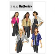 Butterick Ladies Easy Sewing Pattern 5529 Cardigans, Jackets & Tops