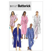 Butterick Ladies & Men's East Easy Sewing Pattern 5537 Pyjama's Sleepwear