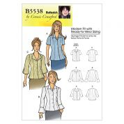 Butterick Ladies Easy Sewing Pattern 5538 Shirts & Blouse Tops