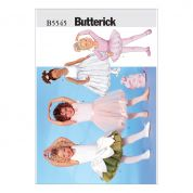 Butterick Childrens Easy Sewing Pattern 5545 Leotard, Skirt, Bag & Ponytail Holder