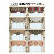 Butterick Homeware Sewing Pattern 5582 Reversible Window Valances