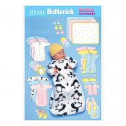 Butterick Baby Sewing Pattern 5583 Jumpsuit & Accessories