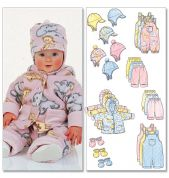 Butterick Baby Sewing Pattern 5584 Jumpsuit, Jacket & Accessories