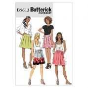 Butterick Ladies Easy Sewing Pattern 5613 Skirts & Sash