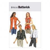 Butterick Ladies Easy Sewing Pattern 5616 Waistcoat & Jackets
