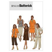 Butterick Ladies Easy Sewing Pattern 5618 Ladies Casual Wear