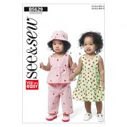 Butterick See & Sew Toddlers Easy Sewing Pattern 5629 Dresses, Shorts, Pants & Hats
