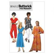 Butterick Ladies Easy Sewing Pattern 5652 Ladies Casual Wear