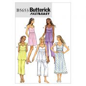 Butterick Ladies Easy Sewing Pattern 5653 Tops, Dress & Trouser Pants