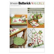 Butterick Homeware Easy Sewing Pattern 5660 Apron & Kitchen Accessories