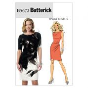 Butterick Ladies Easy Sewing Pattern 5672 Fitted Jersey Dresses