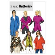 Butterick Ladies Easy Sewing Pattern 5680 Wraps & Jackets