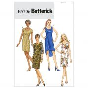 Butterick Ladies Easy Sewing Pattern 5706 Lined Dresses