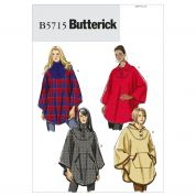 Butterick Ladies Easy Sewing Pattern 5715 Loose Fitting Capes