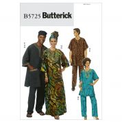 Butterick Ladies & Mens Easy Sewing Pattern 5725 Caftans & Lounge Wear