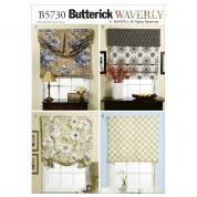 Butterick Homeware Sewing Pattern 5730 Window Shade & Valance