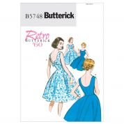 Butterick Ladies Easy Sewing Pattern 5748 Vintage Style Dresses