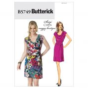 Butterick Ladies Sewing Pattern 5749 Jersey Drape Dress