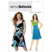 Butterick Ladies Easy Sewing Pattern 5751 Fit & Flare Dresses
