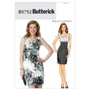 Butterick Ladies Easy Sewing Pattern 5752 Dresses with Side Panels