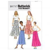 Butterick Ladies Easy Sewing Pattern 5757 Gathered & Tiered Skirts
