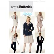 Butterick Ladies Sewing Pattern 5760 Smart Suit Work Wear