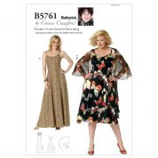 Butterick Ladies Easy Sewing Pattern 5761 Wrap & Dress