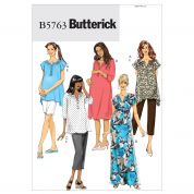 Butterick Ladies Maternity Easy Sewing Pattern 5763 Tops, Dresses, Belts, Shorts & Pants