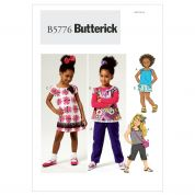 Butterick Childrens Sewing Pattern 5776 Dress, Top, Shorts, Pants & Bag