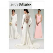 Butterick Ladies Sewing Pattern 5779 Backless Wedding Dresses