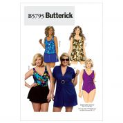 Butterick Ladies Plus Sizes Sewing Pattern 5795 Swimming Costumes